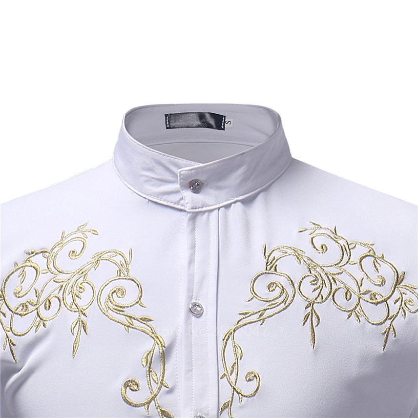 2020 African Clothes for Men Shirt Dashiki Long Sleeve Embroidery Rich Bazin Print Traditional Africa Fashion Dresses Clothing 4