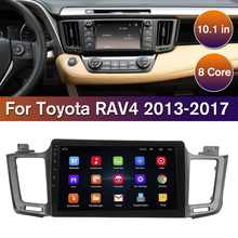 10.1 inch 1 + 16G Auto Radio Multimedia Video Player Navigatie GPS WiFi blue-tooth Android 8.1 8 core Voor Toyota RAV4 2013-2017(China)