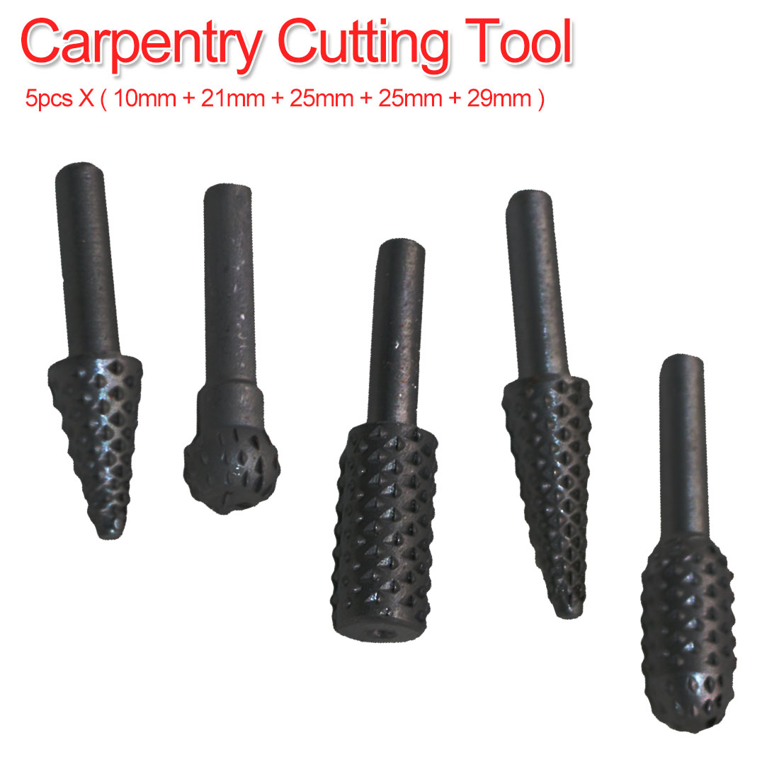 Drill Bit Set 10mm 21mm 25mm 25mm 29mm 5pcs 6.35mm Carpentry Cutting Tool Woodworking Knife For Carving Chamfer Reaming Tool