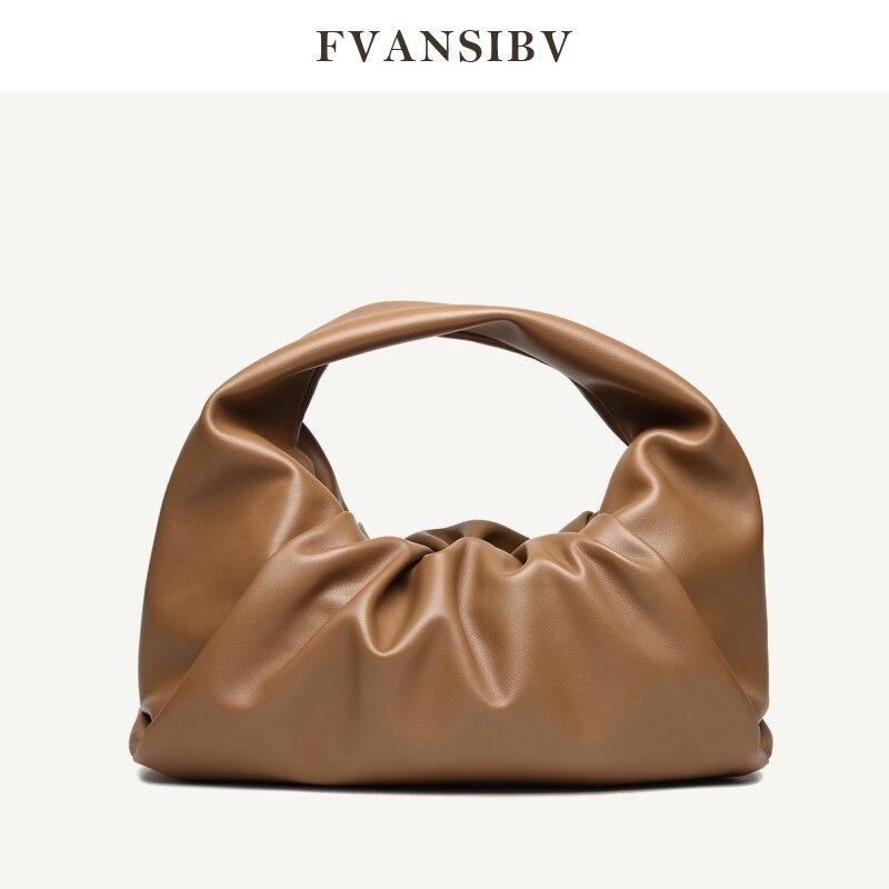 Leather Women Horn Bag Fashion Minimalist Shoulder Bag 2020 New Handbag Large Capacity Shopping Bag Luxury Brand Clouds Bag Hot