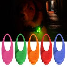LED Light Dog Pendant Charm Pet Dog Tag Night Safety Anti-lost Bright Pendant Pet Accessories lost light