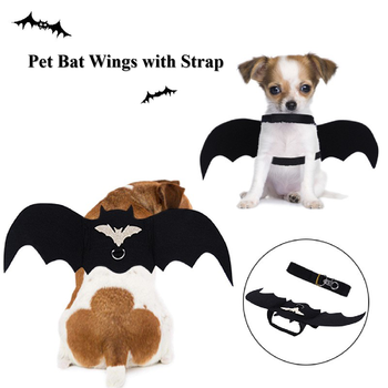 halloween magician style cotton coat cap suit for pet cat dog white black s Dog Cat Halloween Costume Black Cat Bat Wings Cosplay Pet Costumes Apparel for Cat Small Dogs Puppy for Cat Dress Up with Strap