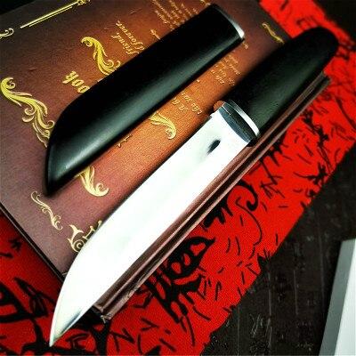 PEGASI  Japan gets D2 steel ebony mirror light sharp Japanese samurai sword classic high hardness tactical knife hunting knife