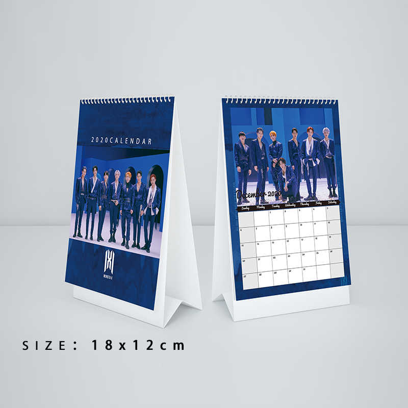 Kpop MONSTA X 7th Mini álbum <'FOLLOW': FIND YOU> 2020 Calendario de escritorio K-POP de moda MONSTA X Mini calendario Fans colección regalos