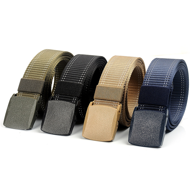 New Men Women Outdoor Canvas Belt Hiking Camping Safety Waist Support Hunting Sports Wearable Breathable Military Tactical Belt