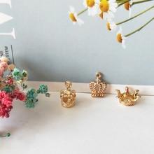 цена на 20pcs/lot Gold Color Zinc Alloy Charms 3D Princess Crowns Charms Pendants DIY Earrings Bracelets Jewelry Finding Accessory FX177