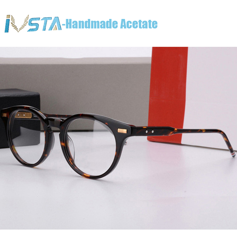 Image 3 - IVSTA Thom TB 402 404 Handmade Acetate Glasses Men Prescription Optical Frames Spectacle Square Tortoise  with Logo Luxury Brand-in Men's Eyewear Frames from Apparel Accessories