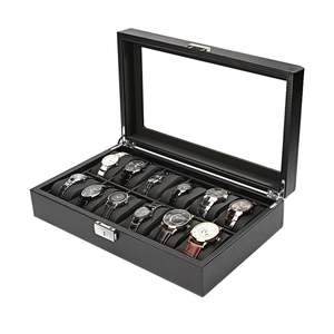Display-Box Case Storage-Organizer Locked Watch Jewelry Grid 2/6/10/12-outad