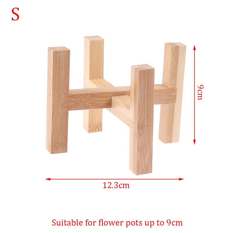 Planteur en bois Pot plateaux fleur Pot support fort debout libre bonsaï support maison jardin intérieur affichage plante support étagère