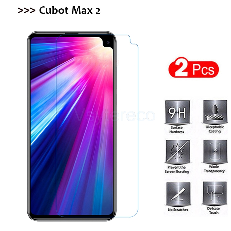"2PCS Tempered Glass for Cubot Max 2 6.8"" 9H Toughened Ultra-thin Glass Screen Protector For Cubot Max 2 Protecitve Phone Film"