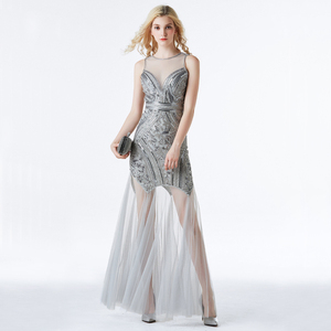 Image 2 - YIDINGZS Sequins Beading Evening Dresses Mermaid Long Formal Evening Party Dress 2020 New Style YD919