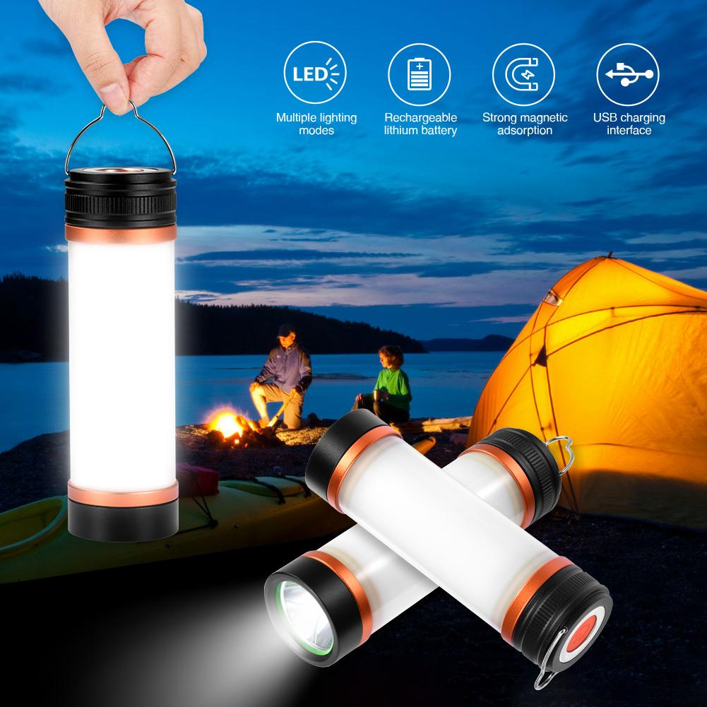 USB Rechargeable T15 T25 T30 Flashlight IP68 Waterproof LED Camp Light Magnetic Lantern Mosquito Repellent Power Bank Lamp