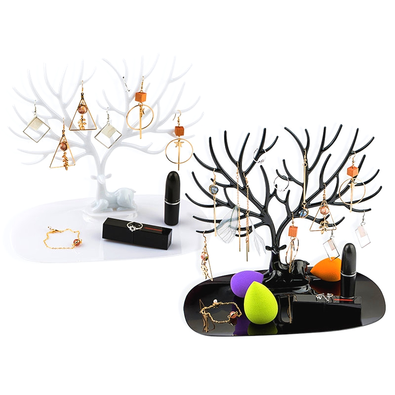 1 pçs pouco cervos jóias exibir suporte bandeja árvore jóias titular brincos colar anel pingente pulseira exibição rack de armazenamento