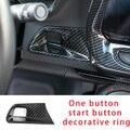 Для Camaro Bumblebee 17-20 углеродное волокно одна кнопка Пуск декоративное кольцо формовочная отделка