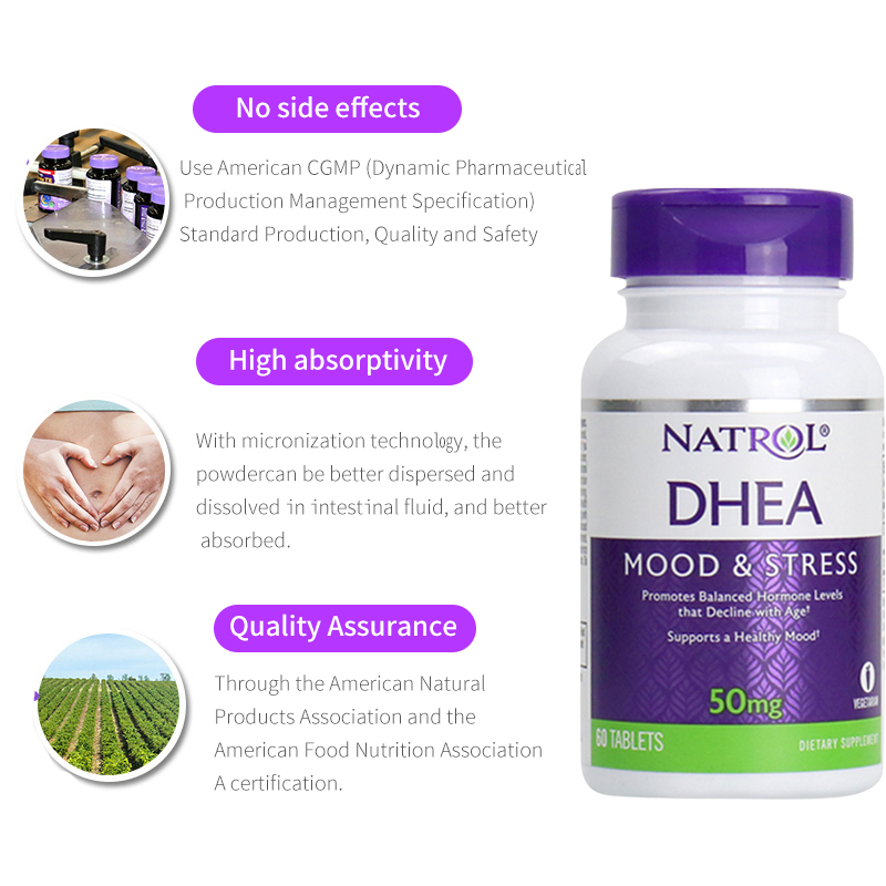 Image 5 - Natrol DHEA 50 mg Mood & Stress promotes balanced hormone levels that 60 tabletsSlimming Product   -