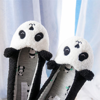 Ginchasio Women Winter Home Cotton shoes Panda Shoes Plush Soft Winter Warm House Slippers Indoor Bedroom Lovers Couples