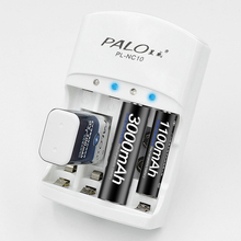 PALO 100% Original aa aaa 2a 3a 9V Battery Charger Electric Charging for AA AAA 9v(6F22)Ni-MH rechargeable batteries