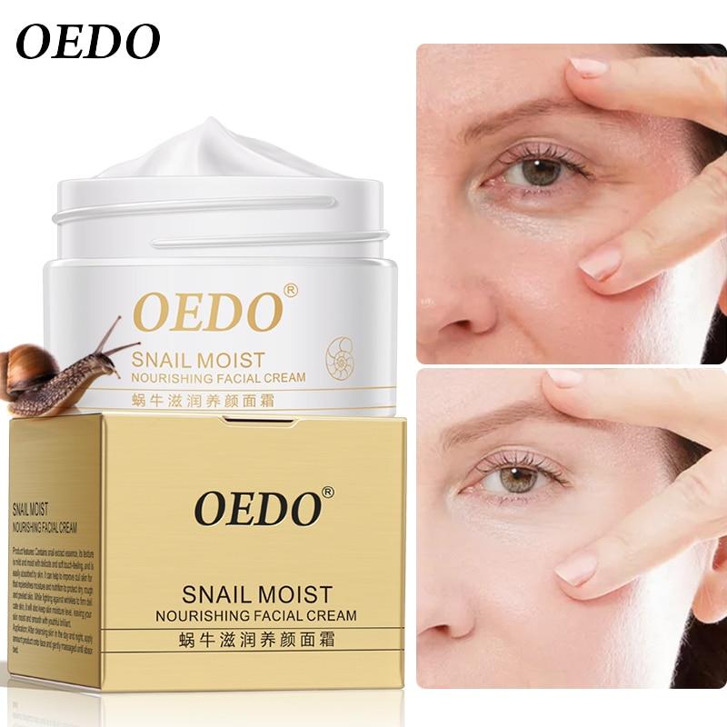Snail Face Cream Collagen Anti-Wrinkle Whitening Facial Cream Hyaluronic Acid Moisturizing Anti-aging Nourishing Serum Skin Care-1