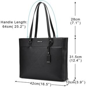 Image 2 - ABDB OSOCE Briefcase 15.6 Inch Laptop Bag Waterproof Handbag Protective Bag Laptop Tote Case Shoulder Bag Office Bags for Women