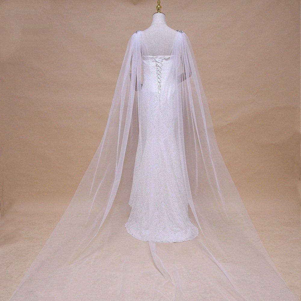 Vintage Capelets For Women Shawls And Wraps For Evening Dress Tull Wedding Cape Bolero Cover Up Elegant Fairy Bridal Cloak J07