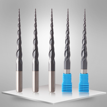 VACK Carbide Ball Nose End Mills 3.175mm 4mm 6mm 8mm Ball Nose Tapered End Mill Router Bits cnc Taper Wood Metal Milling Cutter