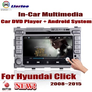 Auto DVD Player GPS Navigation For Hyundai Click 2008~2015 Car Android Multimedia System HD Screen Radio Stereo Head Unit