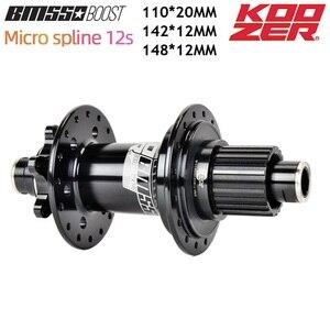KOOZER BM550 MTB BOOST hub 142*12 148*12 110*20MM 32H Bicycle 12 Speed MICRO SPLINE Hub For Shimano DEORE XT M8100 M7100 M6100