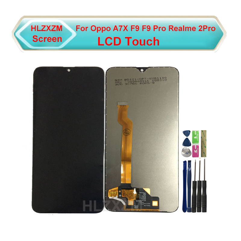 For Oppo A7X F9 F9 Pro Realme 2Pro LCD Display With Touch Screen Digitizer Assembly Replacement Black Color