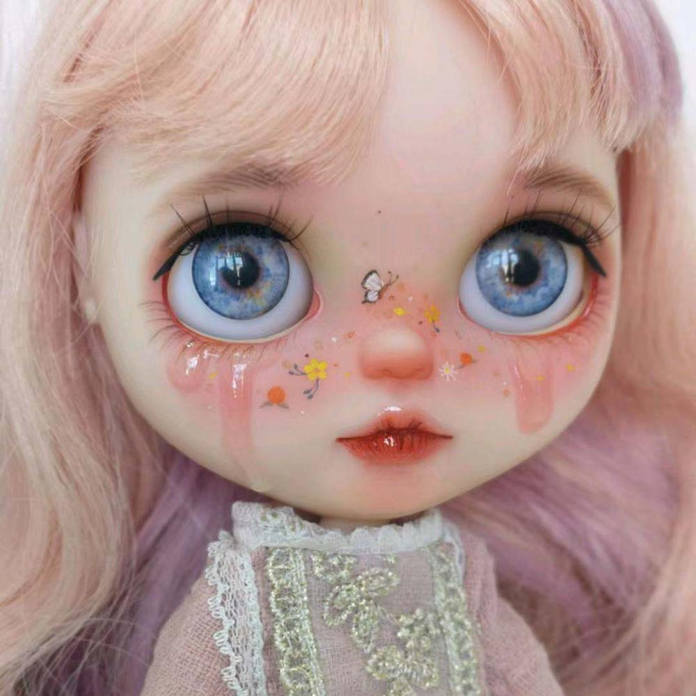 Blyth Doll NBL 1/6 BJD Customized Frosted Face,big Eyes Fashion Girl Makeup Ball Jointed Doll Multicolored Series 3
