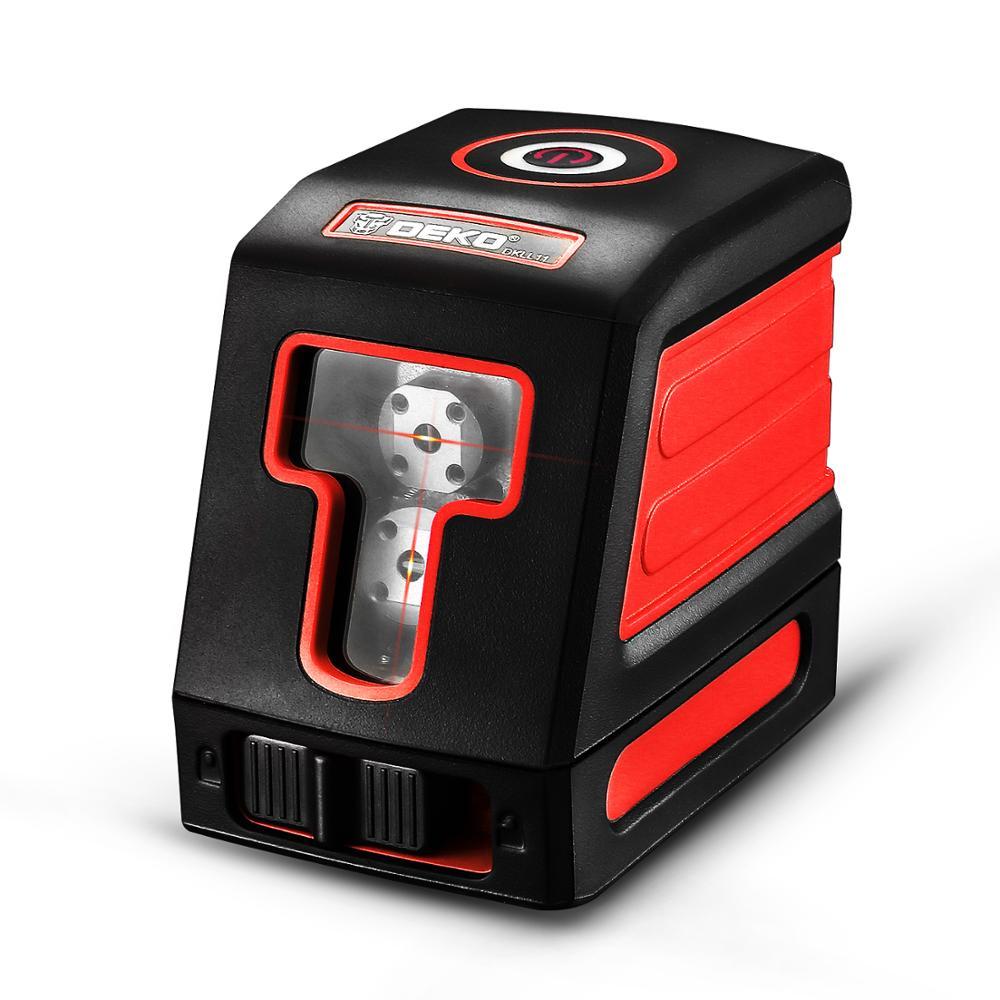 DEKO DKLL11 Telêmetro-estilo auto-alinhamento alinhamento a laser fonte de nível de linha transversal laser vermelho