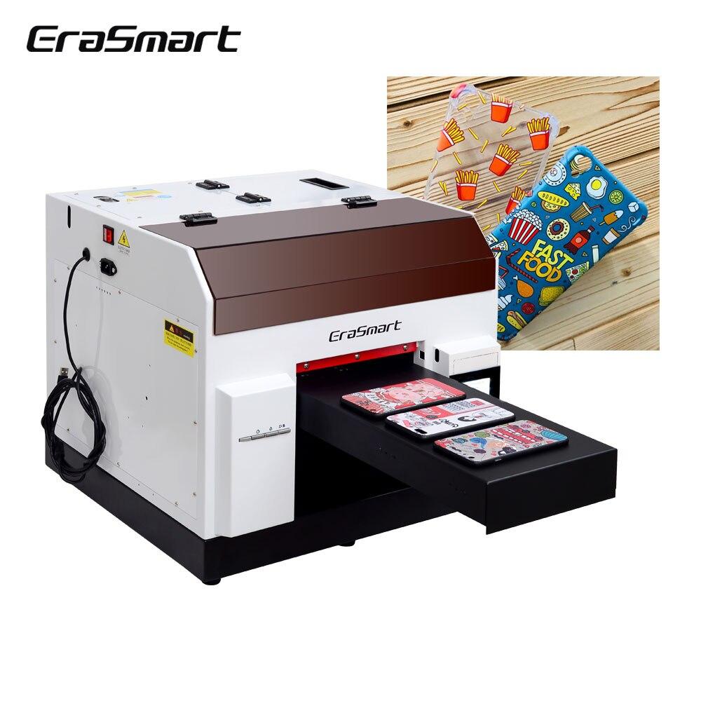 Настольный струйный принтер Erasmart A4, планшетный УФ-светодиодный принтер, планшетный УФ-принтер