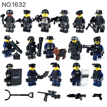 2017 new kazi 4pcs building blocks wolf tooth field team militray army weapons compatible with legoe solider bricks toys Military Special Forces Soldiers Bricks Figures Guns Weapons Compatible Armed Building Blocks Kids Toys
