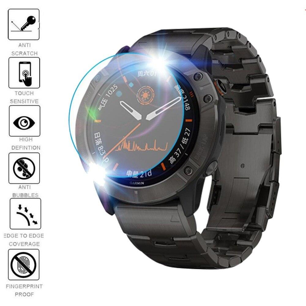 Image 4 - 3Pcs Smart Watch Protective Film For Garmin Fenix 5 5s Plus 6S 6 6X Pro Round Edges Tempered Glass film Premium Screen ProtectorWatch Screen Protectors   -