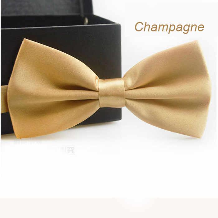 14 Warna Klasik Fashion Novelty Mens Adjustable Tuxedo Pernikahan Dasi Kupu-kupu Padat Warna Pink Biru Merah Champagne