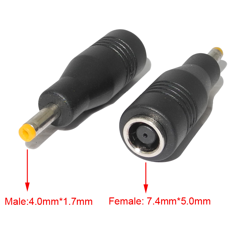 DC Power Adapter Plug Connector Laptop Charger Converter 7.4*5.0mm Female To 4.0*1.7mm Male Jack For Lenovo IdeaPad Yoga