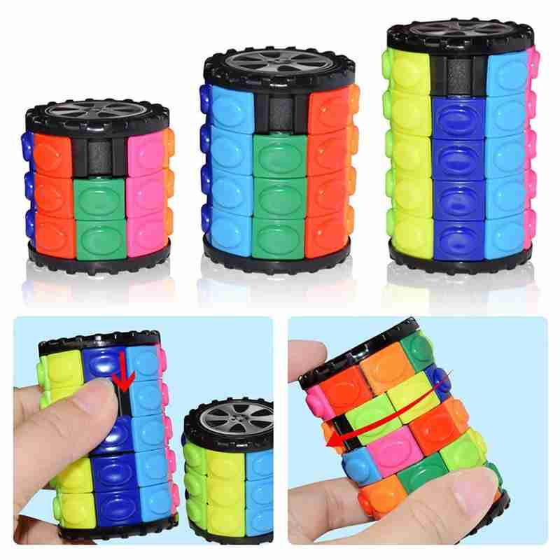 DIY Corn Puzzle Cube Magic Toy 3 4 5 Layers Green Corn Develop Intellectual Early Educational Children Cube Toys