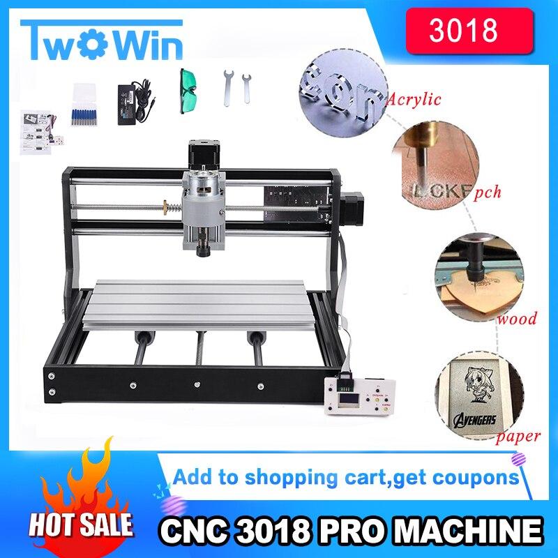 CNC 3018 Pro graveur Laser bois CNC routeur Machine GRBL ER11 bricolage Mini gravure Machine pour bois PCB PVC avec contrôle hors ligne