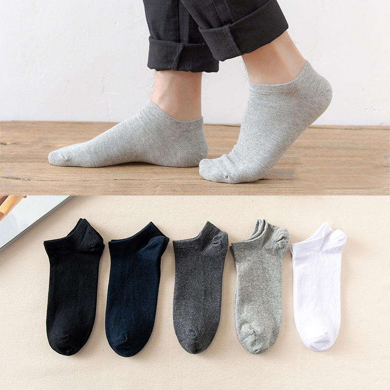 5 Pairs / Pack Mens Bamboo Fiber Socks Short High Quality New Casual Breatheable Anti-Bacterial Man Ankle Socks Men