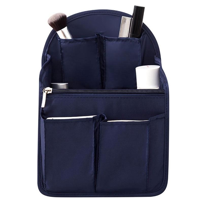 Backpack Insert Bag Internal Storage Bag Diaper Bag Large Capacity Travel Storage Bag Shoulder Bag Navy Blue