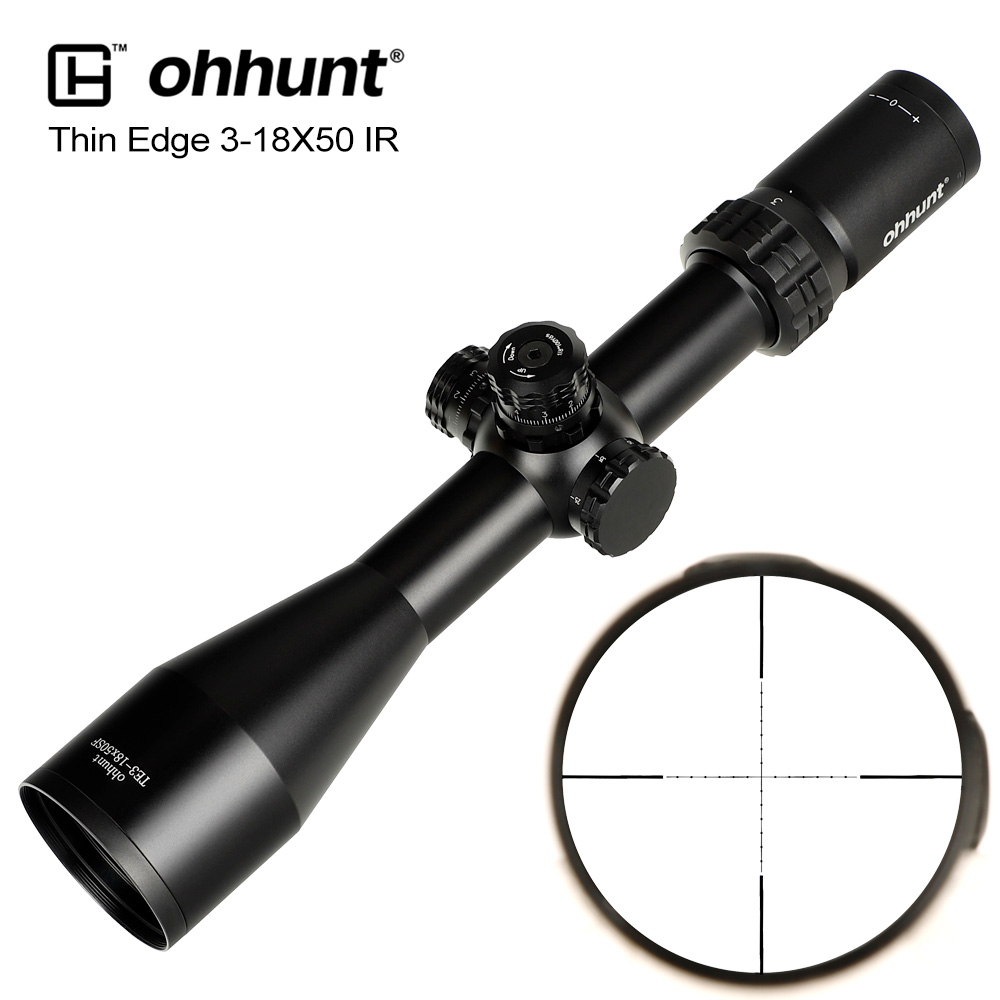 Ohhunt Thin Edge 3-18X50 SF Tactical Optical Sights Mil Dot Glass Etched Reticle With Turret Lock Reset Hunting Riflescope Scope