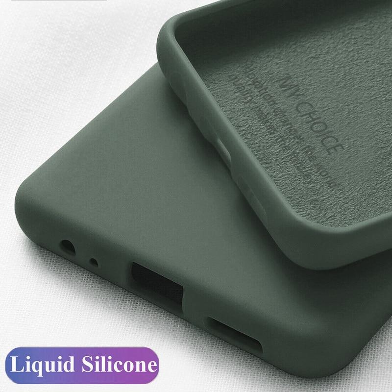 For Samsung Galaxy A51 A70 A71 A50 A40 A30 A20 A10 Case Solid Color Silicone Case For S20 S7 S8 S9 S10 Plus s10e Note 9 8 10
