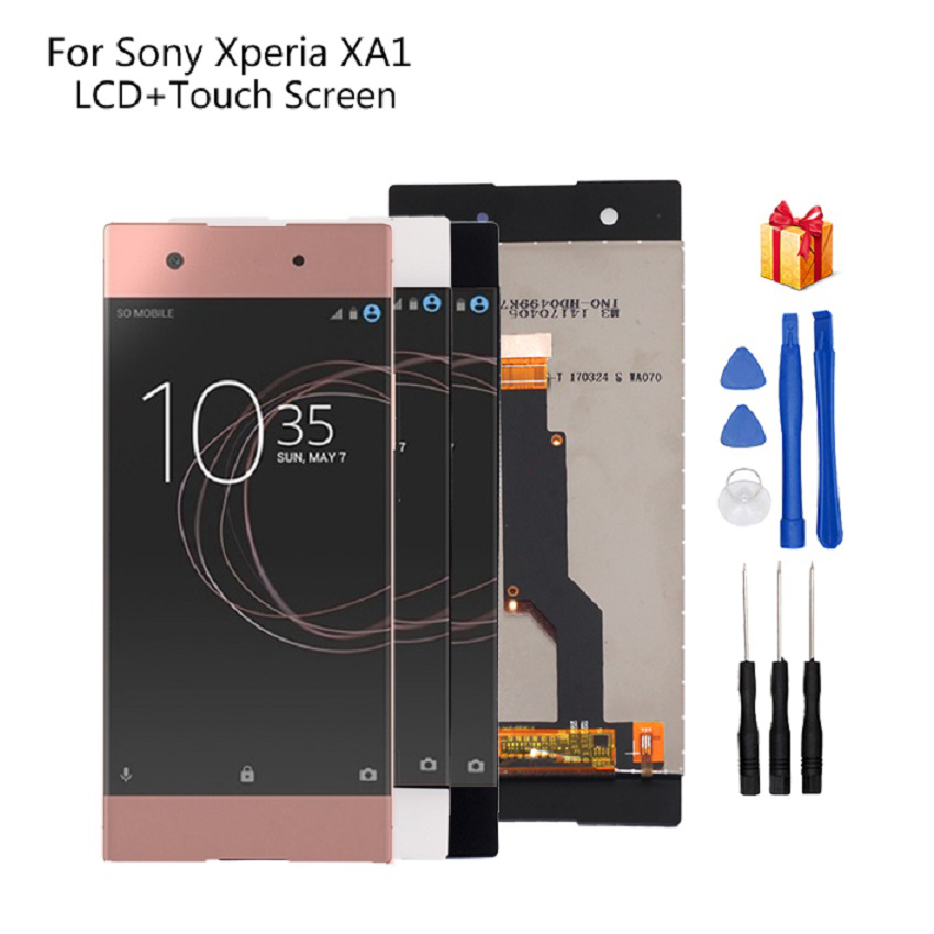 For <font><b>Sony</b></font> Xperia XA1 <font><b>LCD</b></font> Display Digitizer Assembly For <font><b>Sony</b></font> XA1 G3116 G3121 <font><b>G3112</b></font> Display Screen <font><b>LCD</b></font> Phone Parts Free Tools image