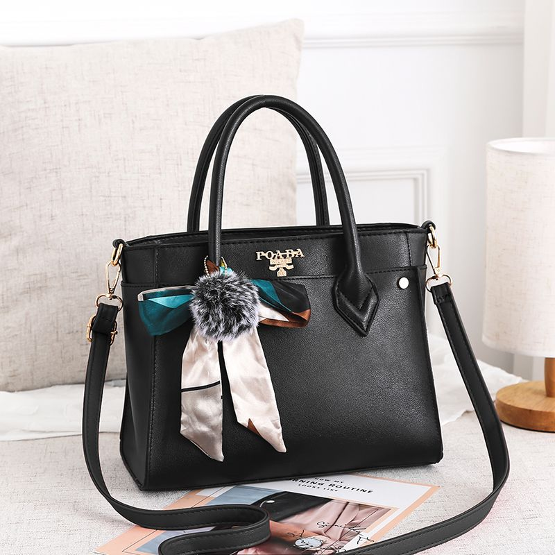 Womens bag new European and American fashion trend big PU leather Messenger shoulder handbag