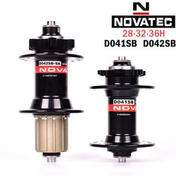 Novatec hub D041SB D042SB disc card brake MTB mountain bike hub bearing bicycle hubs 28 32 36 Holes red black 8/9/10/11speed
