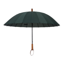 Producenci sprzedaży bezpośredniej 24 kości automatyczny parasol z włókna kości  prosty parasol  drewniane ciemny kolor biznes wzmocnione wiatr  na