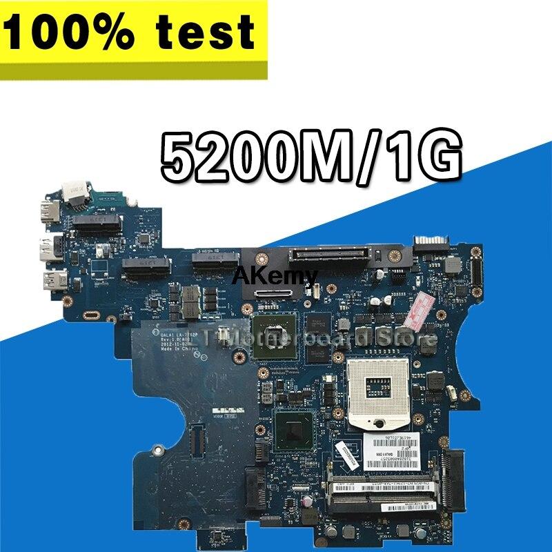 For CN-0GMVN7 GMVN7 FOR DELL Latitude E6530 Laptop Motherboard DDR3 QALA1 LA-7762P REV:1.0(A00) 5200M/1G Mainboard