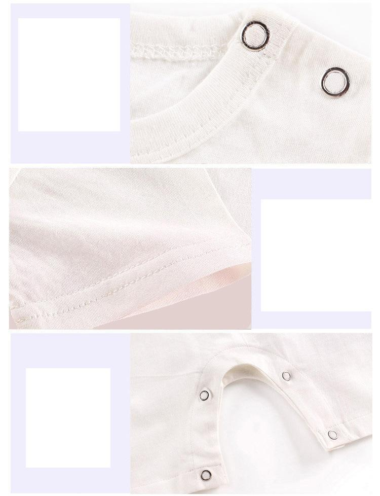 2021 недорогой хлопковый Детский комбинезон с короткими рукавами, одежда для малышей, цельная летняя одежда унисекс для малышей, комбинезоны для девочек и мальчиков с рисунком жирафа 2