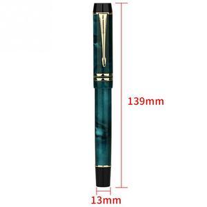 Image 4 - Moonman M600S regalos hogar iridio pluma fina pluma estilográfica suministros de estudio tinta lisa de oficina relleno al vacío papelería de doble Color