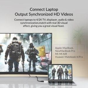 Image 3 - ORICO USB tipo C a HDMI compatible con convertidores de 4K a 30Hz/60Hz tipo C USB 3,1 adaptador conector Audio Video Extender para PC/teléfono/TV