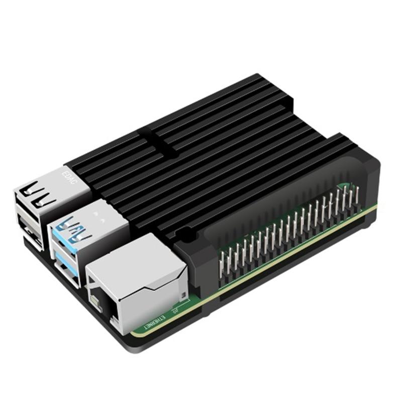 For Raspberry Pi 4 Model B Aluminum Case, Passive Cooling Aluminum Alloy Protective Shell Metal Enclosure For Raspberry Pi 4 Mod